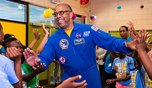 First African American astronaut to walk in space visits Baton Rouge, promotes education image